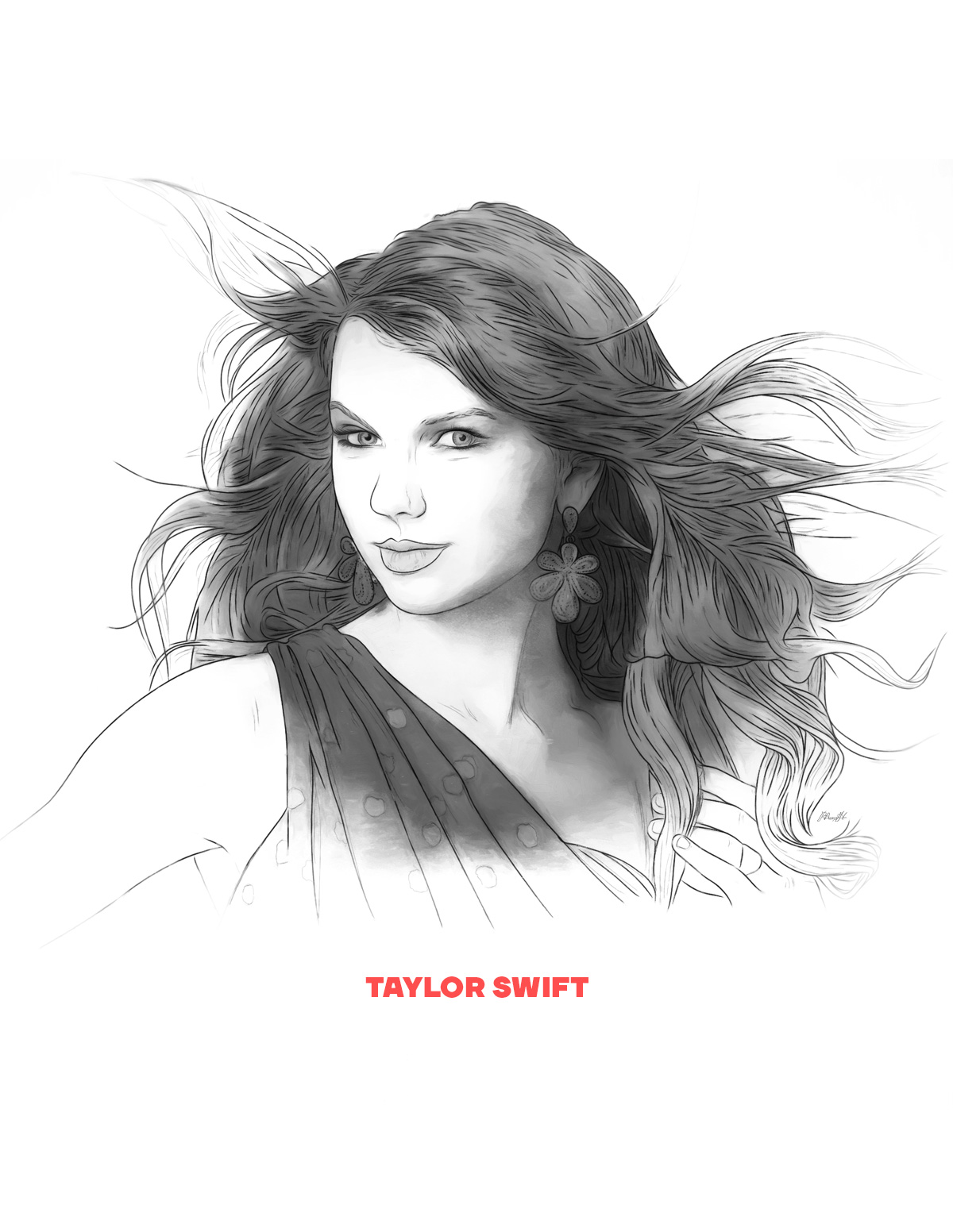 Taylor Swift portrait from People of 2016 series, by Max Hancock