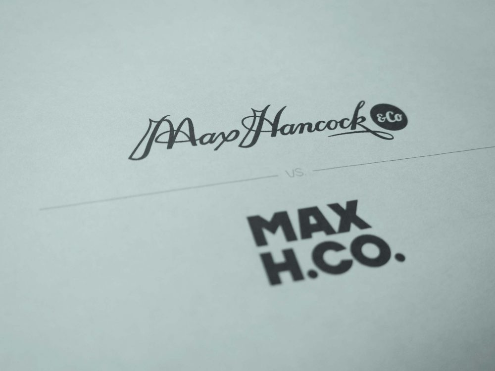 Max Hancock & Co, New Logo vs Old Logo