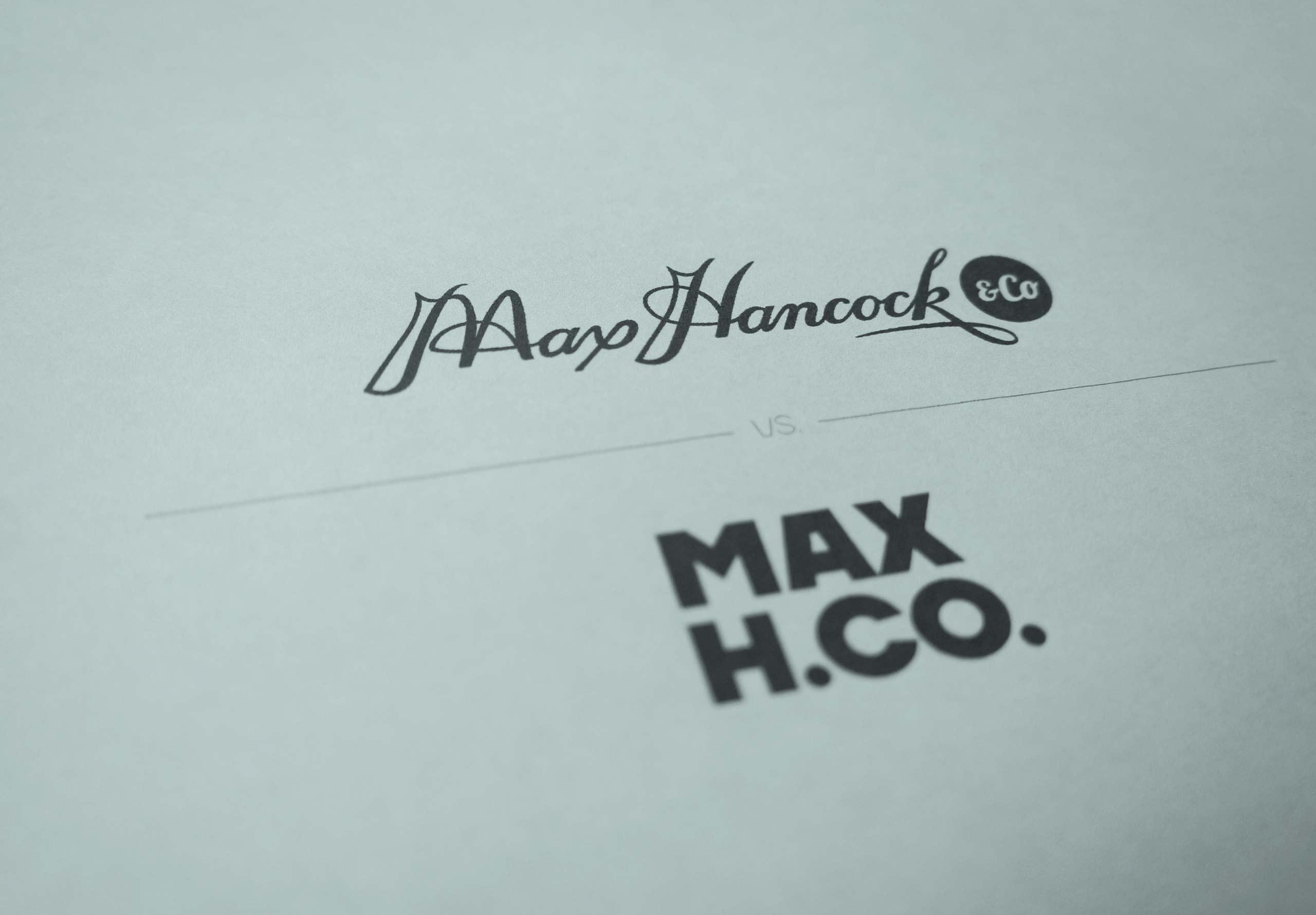Max Hancock & Co, New Logo vs Old Logo
