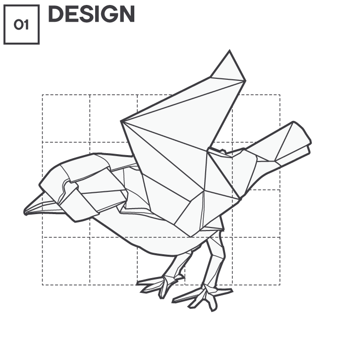 Icon 1 - Origami - Design, by Max Hancock
