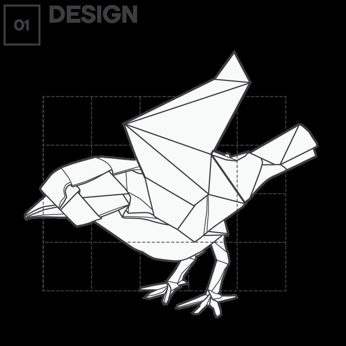 Icon 1 - Origami - Design, by Max Hancock