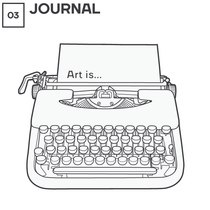 Icon 3 - Typewriter - Journal, by Max Hancock