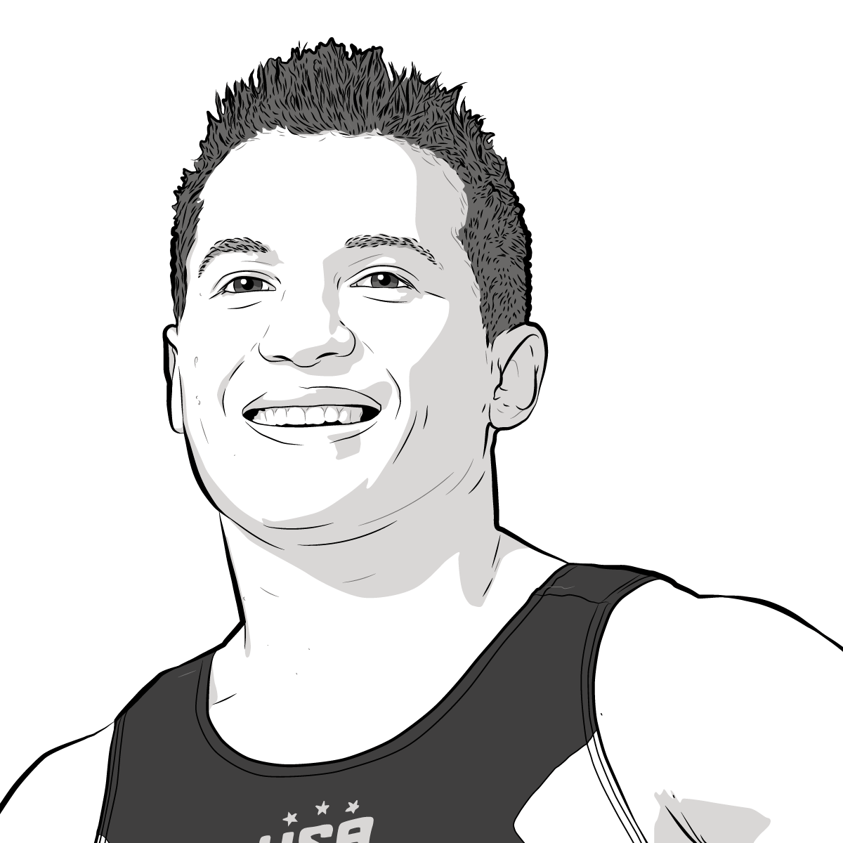 Athlete Portrait of Jonathan Horton, Illustration by Max Hancock