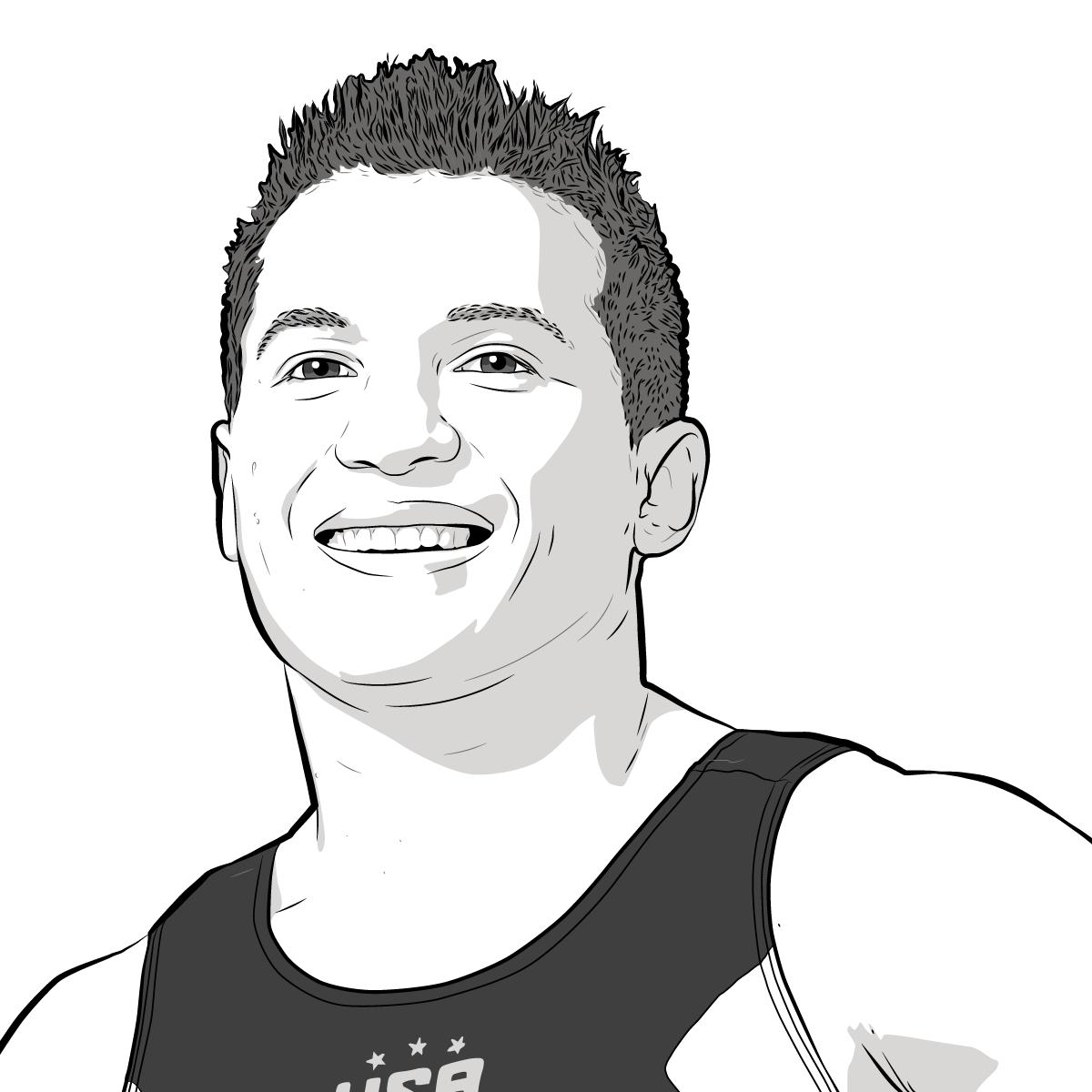 Athlete Portrait of Jonathan Horton, Illustration by Max Hancock