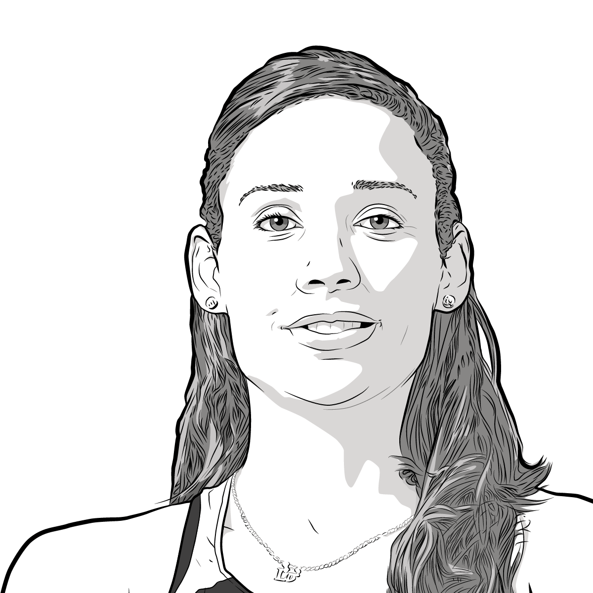 Athlete Portrait of Lolo Jones, illustration by Max Hancock