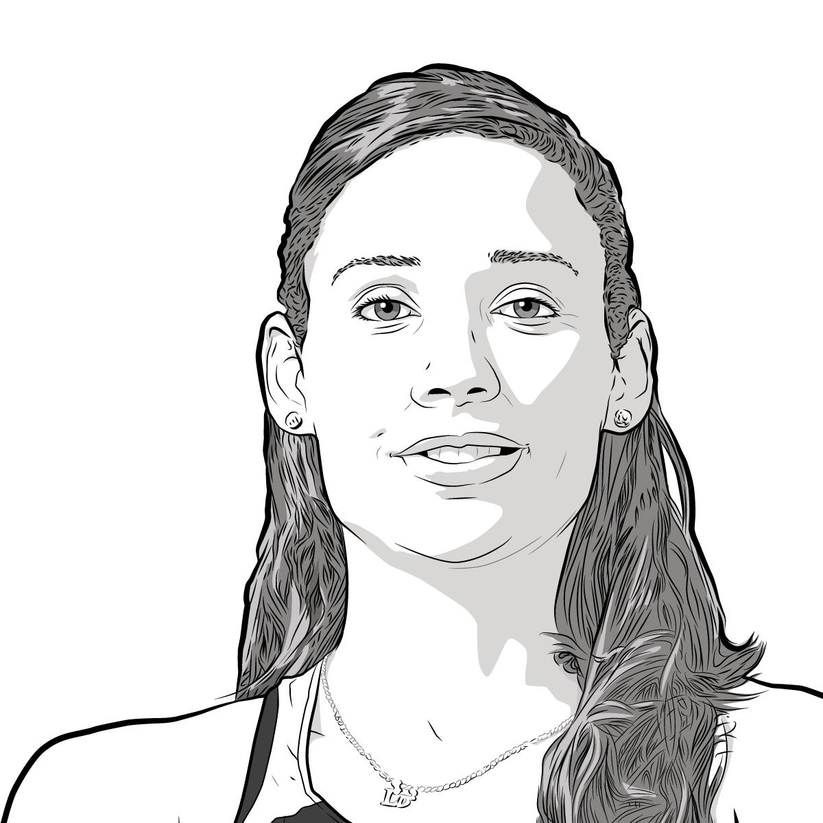 Athlete Portrait of Lolo Jones, illustration by Max Hancock