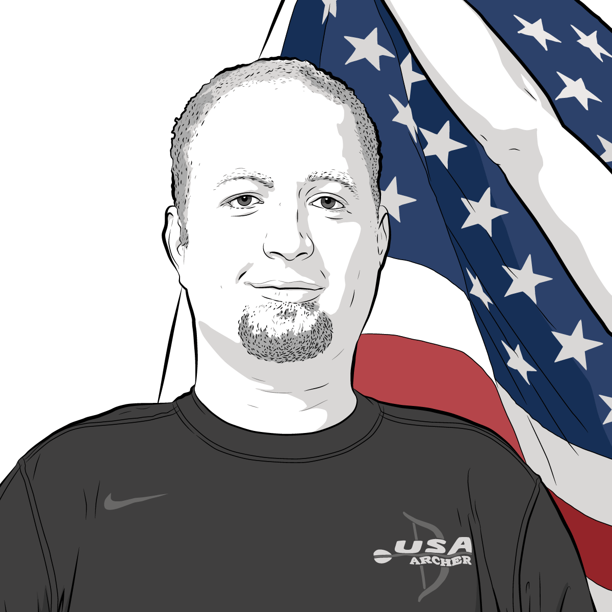 Athlete Portrait of Matt Stutzman, Illustration by Max Hancock