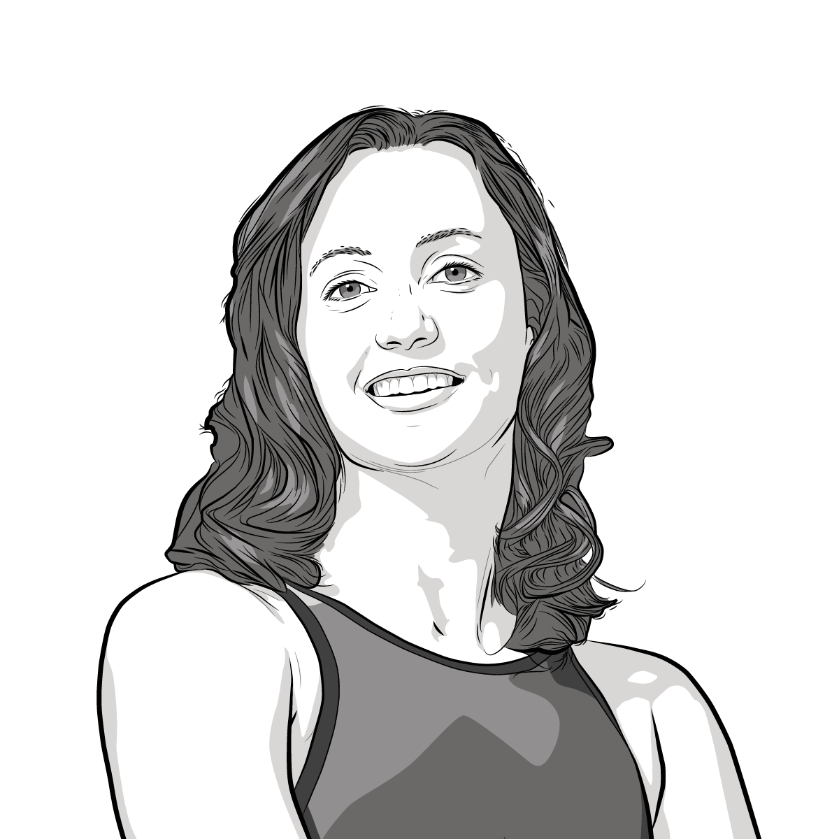 Athlete Portrait of Rebecca Soni, illustration by Max Hancock