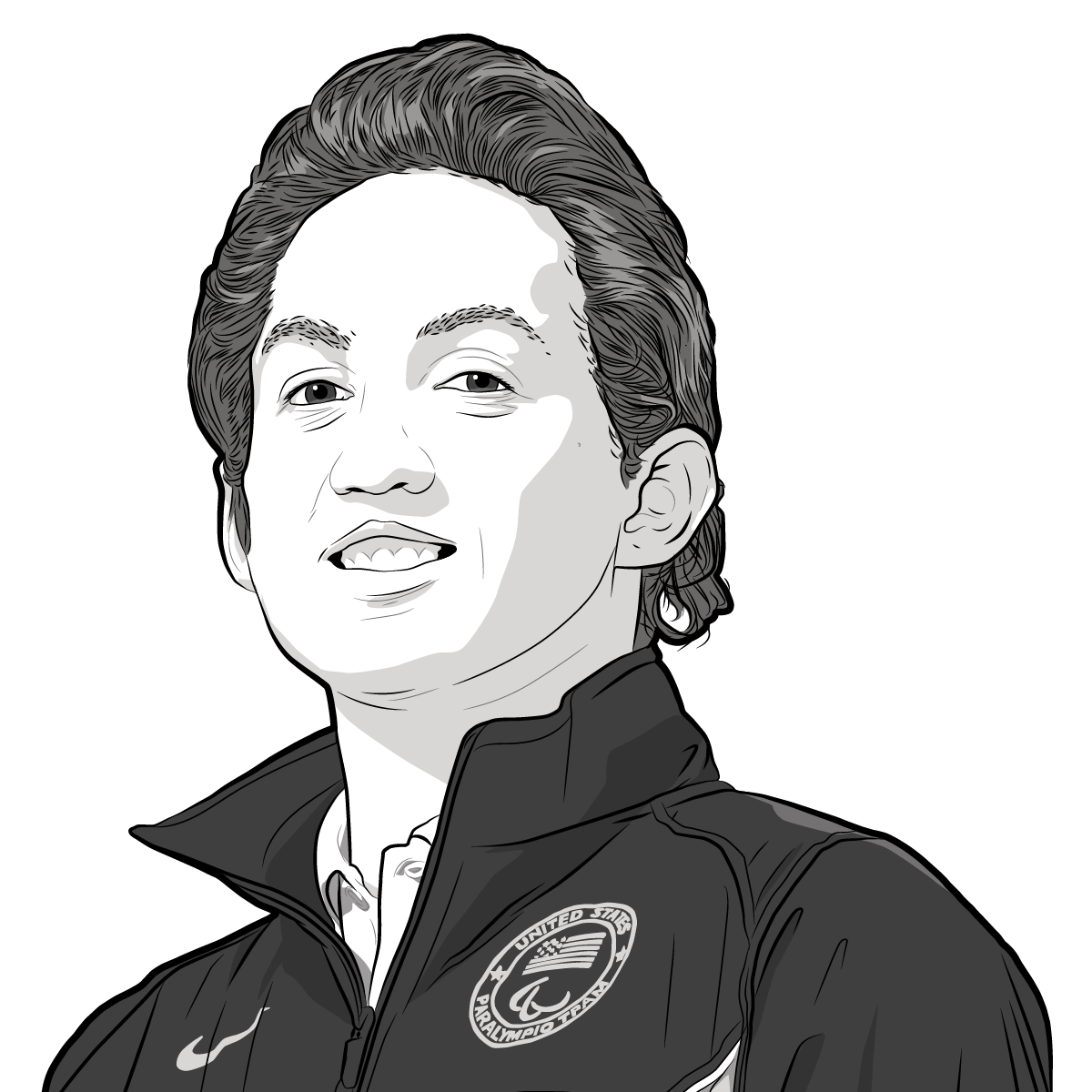 Athlete Portrait of Rudy Garcia-Tolson, illustration by Max Hancock