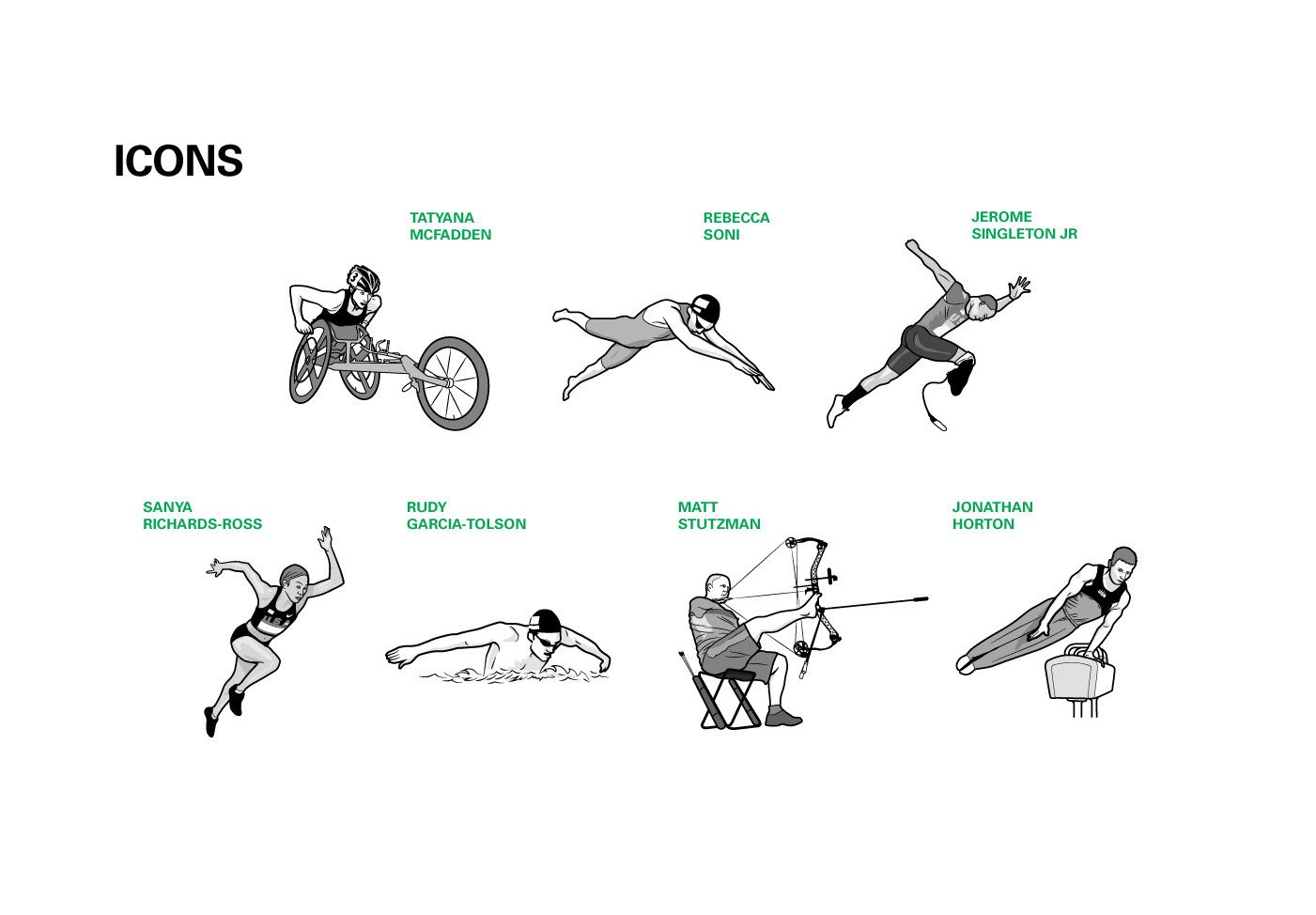 BP's Team USA Athletes, Icons by Max Hancock