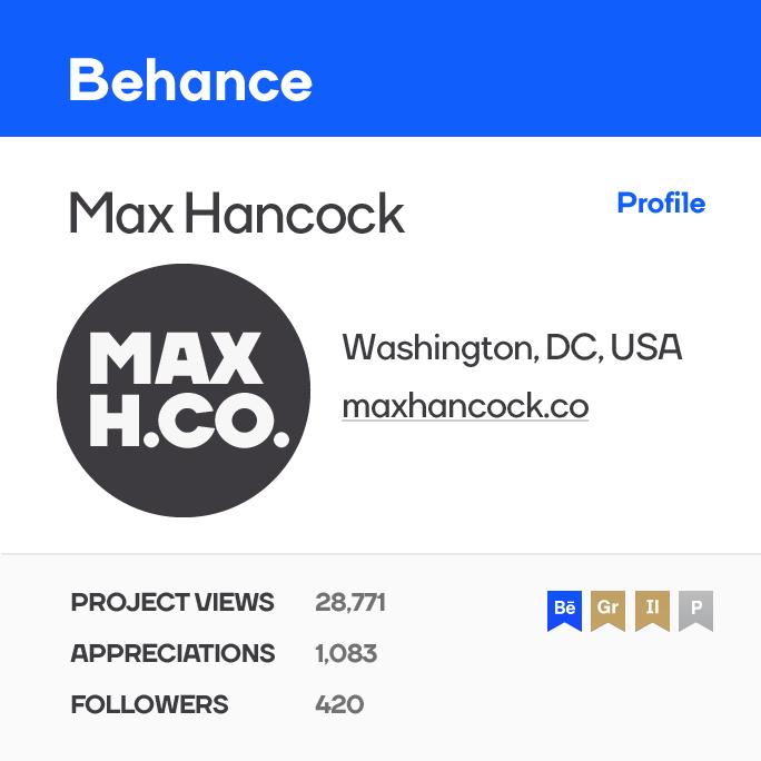 Max Hancock Behance Logo