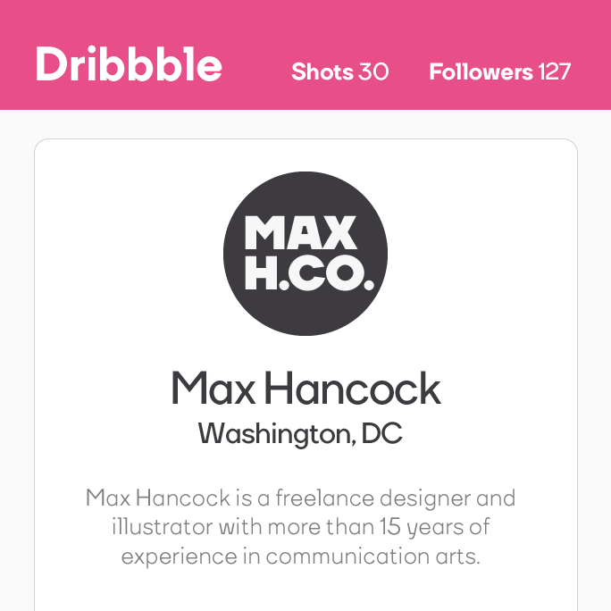 Max Hancock Dribbble Logo