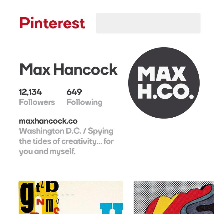 Max Hancock Pinterest Logo