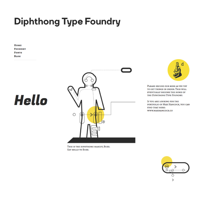 Diphthong Type Foundry Logo