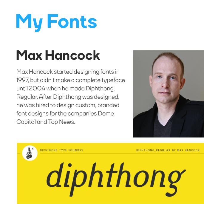 Max Hancock My Fonts Logo