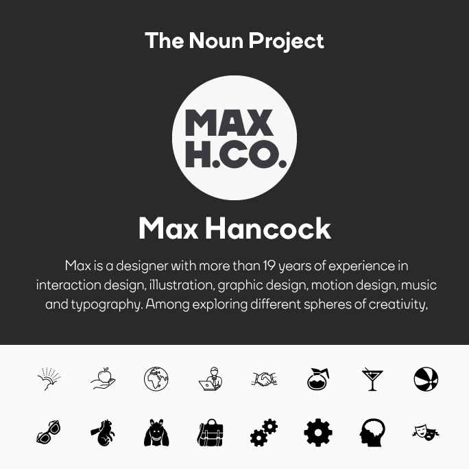 Max Hancock Noun Project Logo