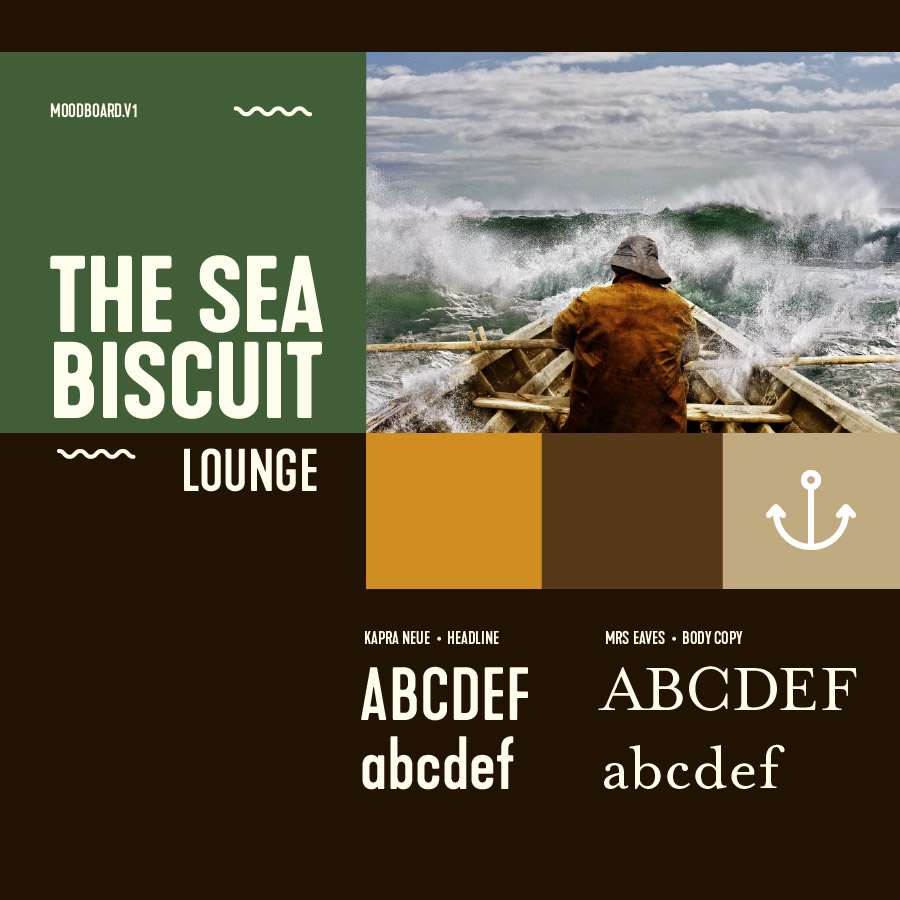 Fig. 11 The Sea Biscuit Lounge Moodboard
