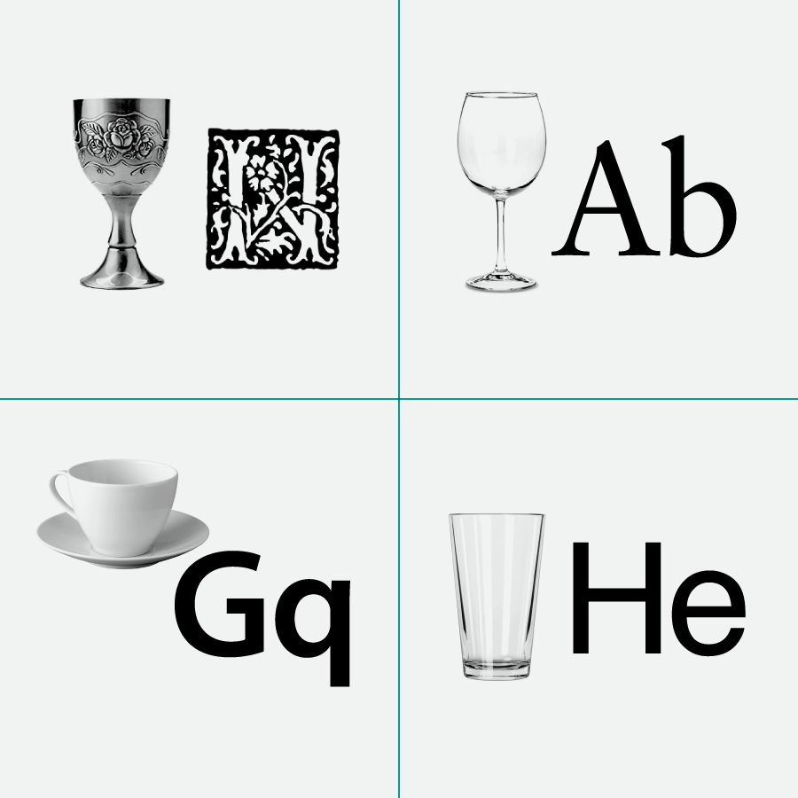 Fig. 12 Comparing a font to a tangible object