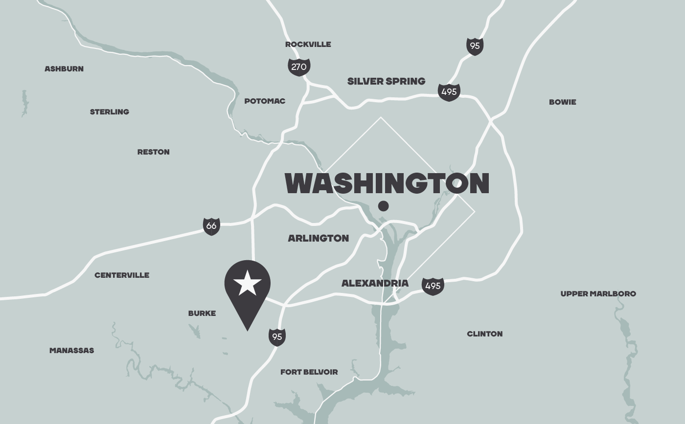 Washington DC location map