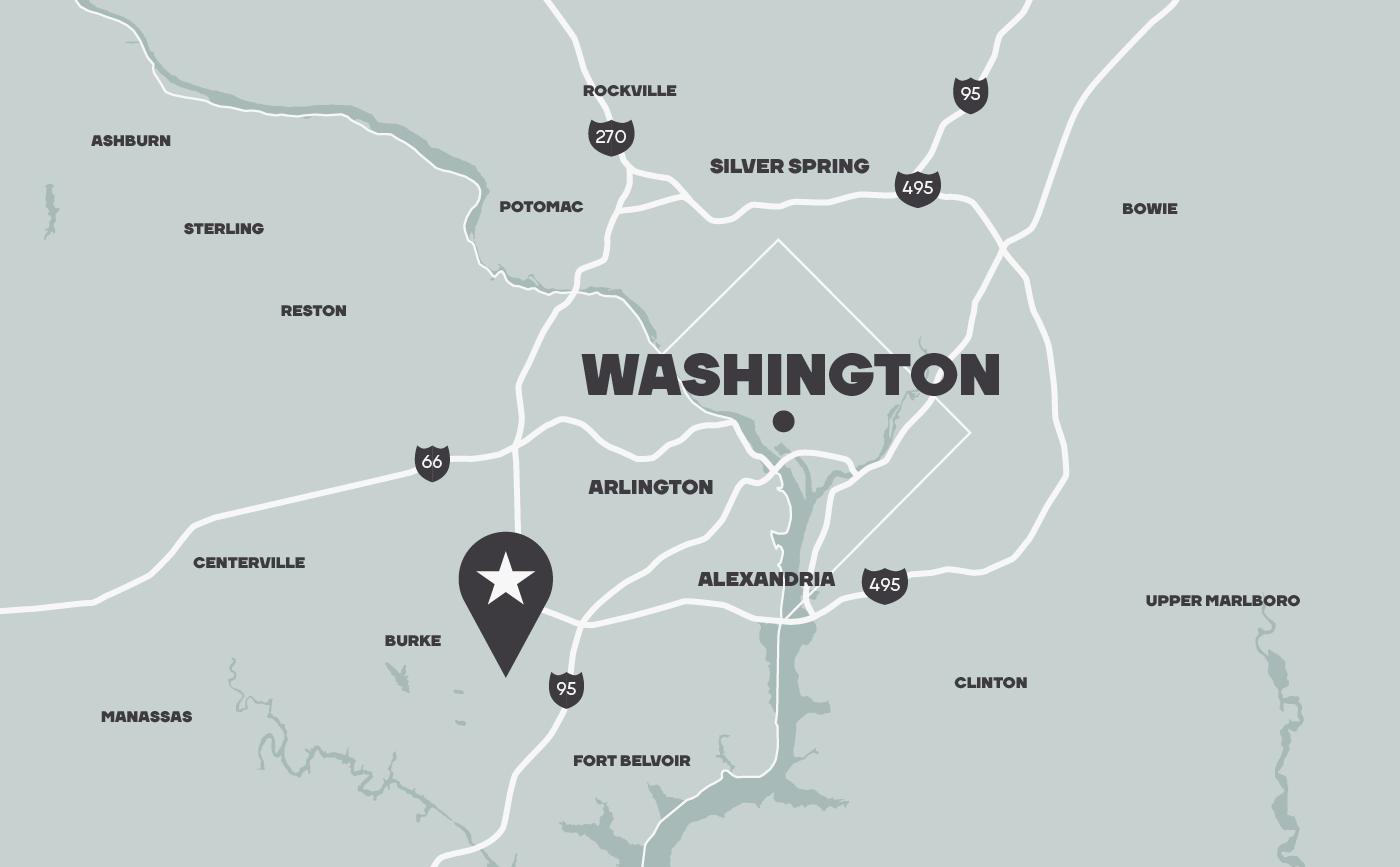 Washington DC location map