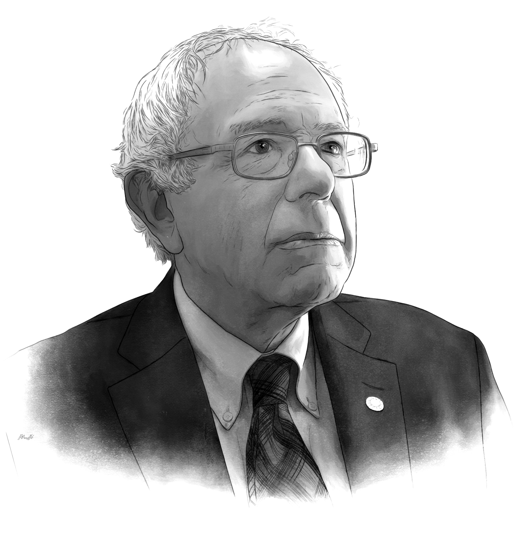 Bernie Sanders portrait by Max Hancock