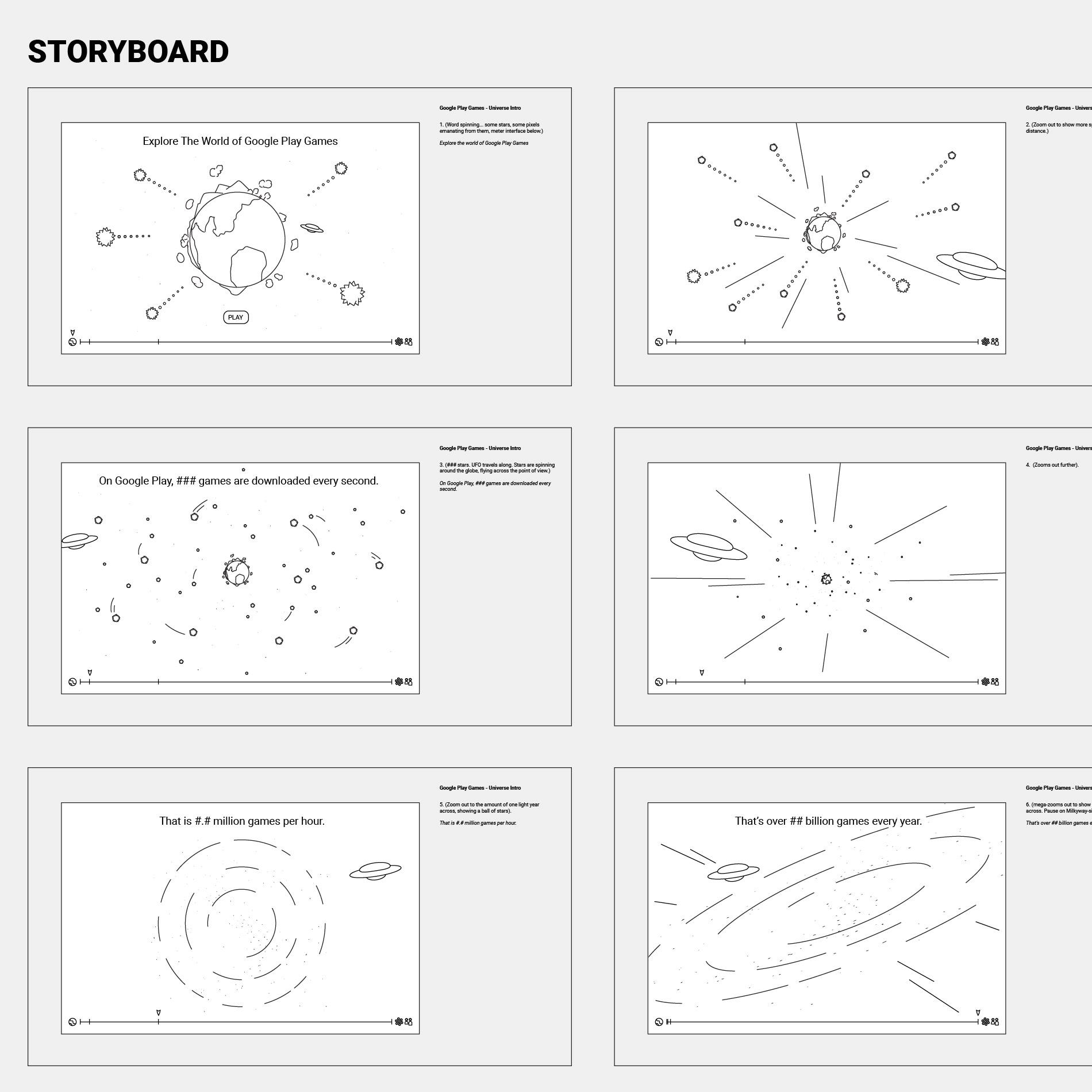 Google Play Animation Storyboard