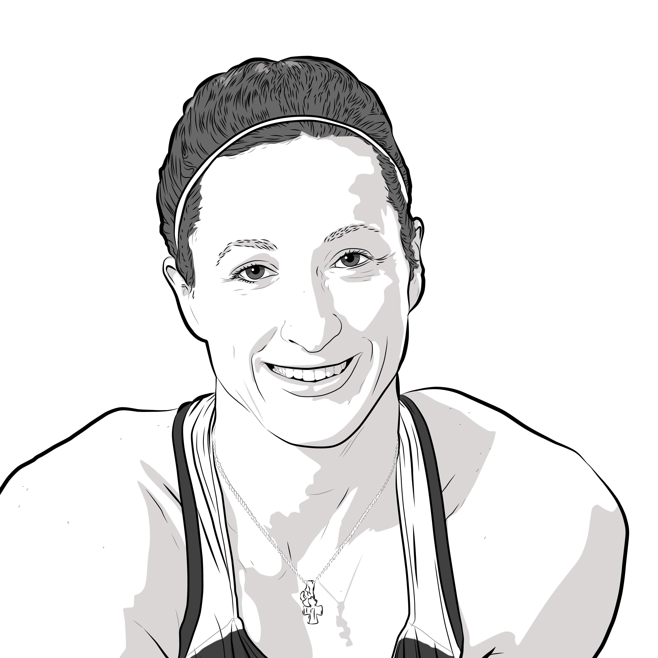 Athlete Portrait of Tatyana McFadden, Illustration by Max Hancock