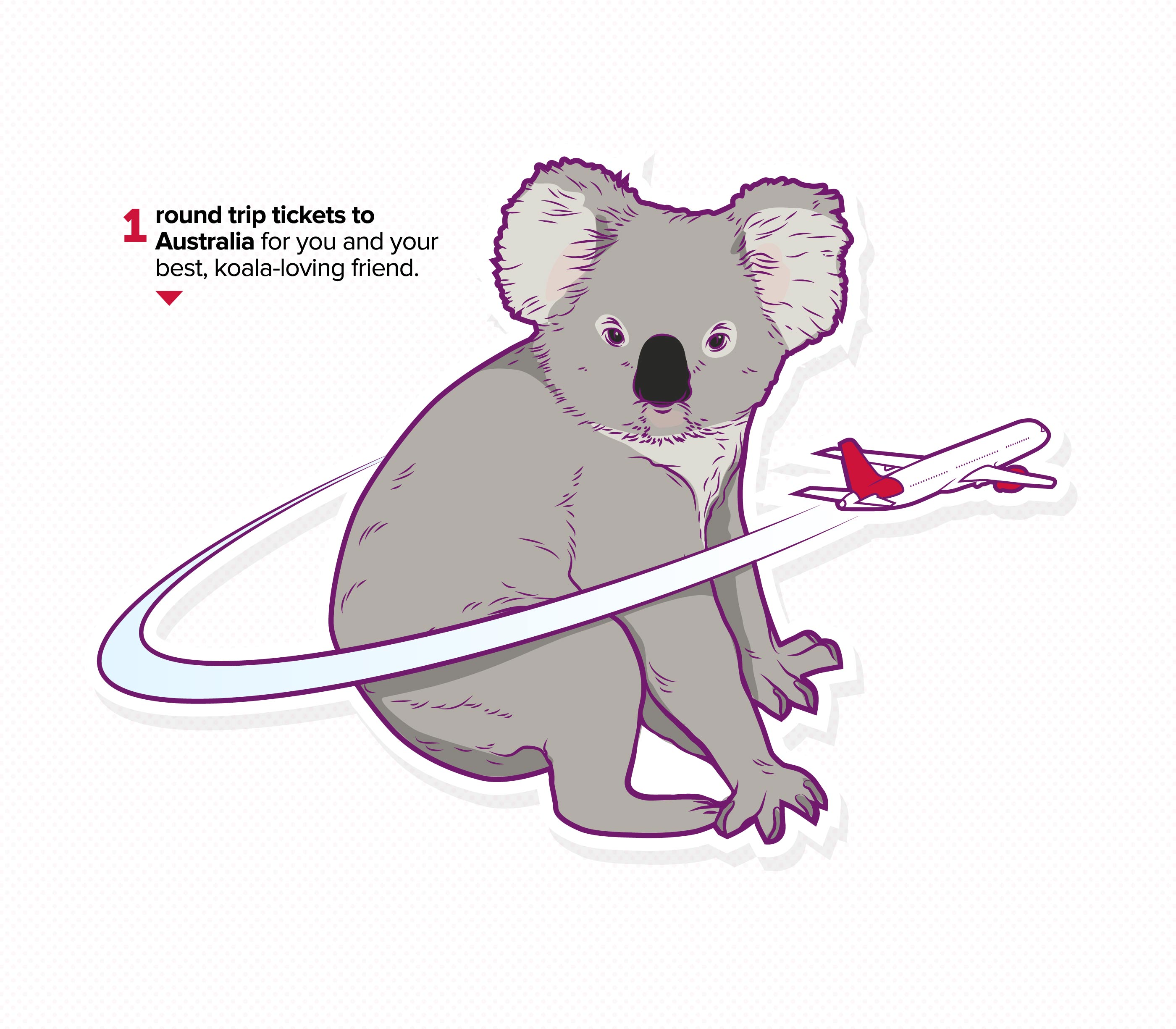 Virgin Mobile, Infographic Detail, Koala bear and airplane